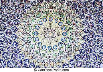 Arab carpet - Background of big decorative Arab pattern...