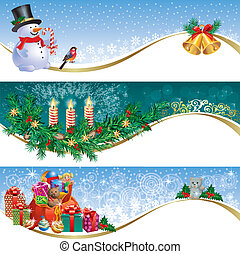 Christmas banner - Decorative Christmas banners.Contains...