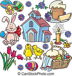 húsvét, ikon, állhatatos