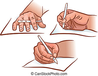 Hand writing - The hand writing from different angles. EPS...