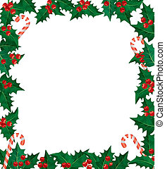 Holly berries frame - Christmas holly berries frame. Using...