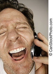 Laughing Man on Phone