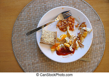 Half Eaten - A half eaten full english fry up breakfast