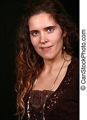 young woman portrait, studio shot