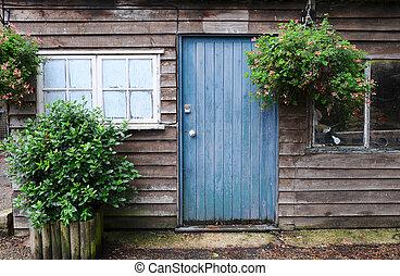 Old garden potting shed