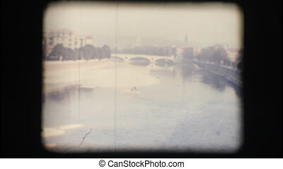 Vintage 8mm Adige river - Vintage 8mm Original footage...