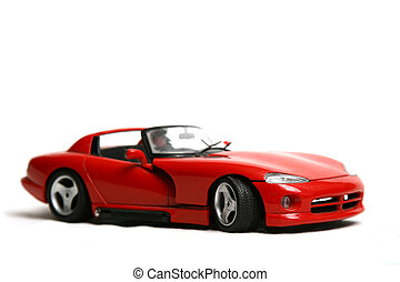 red car - Red car on a white background