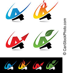 Swoosh Number Icons 4