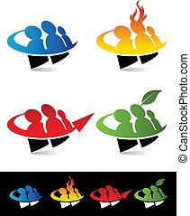 Swoosh People Icons