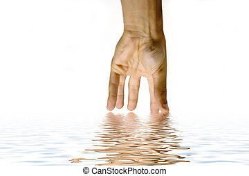hand - Hand touch water