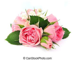 花束, 粉紅色, 玫瑰