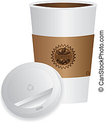 Coffee To Go Cup with Lid Illustration - Coffee To Go Cup...