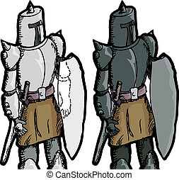 Fantasy Medieval Knight - Fantasy medieval knight with see...