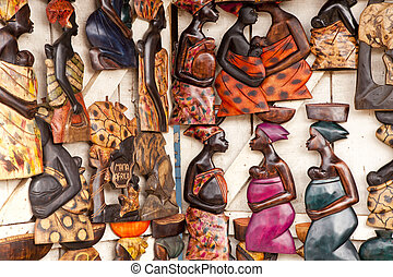 African Art - Beautiful African Art at a market in Accra...