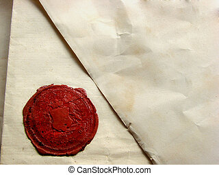 letter with seal - vintage handwritten letter with seal