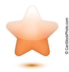 3D bronze star
