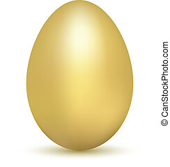 Golden egg isolated on white
