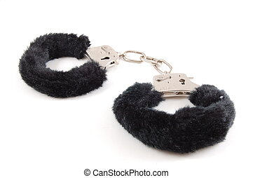 handcuffs - simple Handcuff isolated on a white background