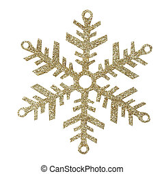 Snowflakes on white background, with clipping path