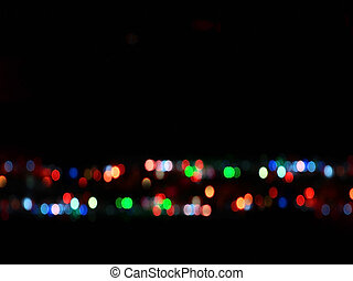 Abstract bokeh light from christmas tree use for background