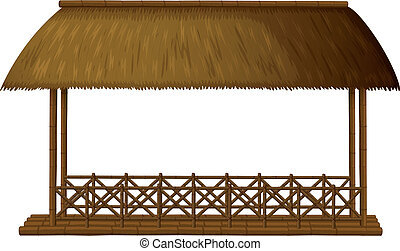 Wooden shade - Illustration of a wooden shande on white...