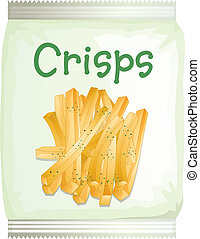 A packet of frech fries - Illustration of a packet of frech...