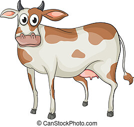 A cow - Illustration of a cow on a white background