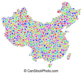 Map of China - Asia -
