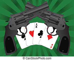 two pistols and four aces