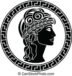black stencil of patrician women first variant