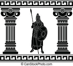black warrior with with columns first variant