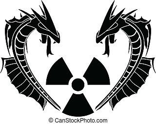 radiação, répteis
