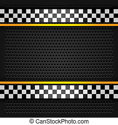Metallic perforated sheet, vector illustration 10eps