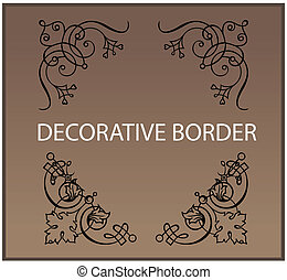 Calligraphic and decor design elements borders