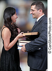 Couple with Books