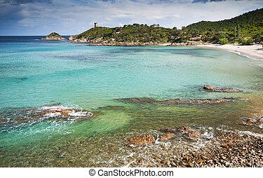 Corsica - Beautiful beach in Corsica - France