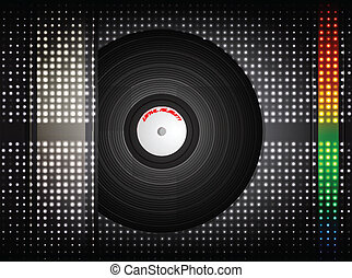 Vinyl record. Vector illustration.