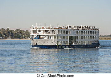 Large river cruise boat on the Nile