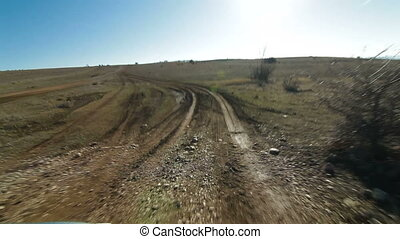 Off-Road Driving - Off-road driving through a Crimean...