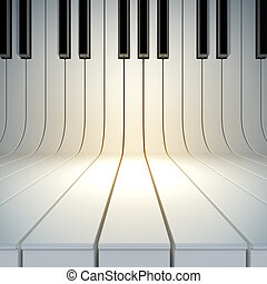 blank surface from piano keys - A 3d illustration of blank...