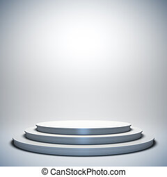 White empty stage. - A 3d illustration of blank template...