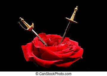 Daggers in a rose
