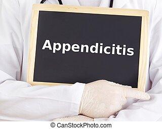 doutor, mostra, information:, apendicite