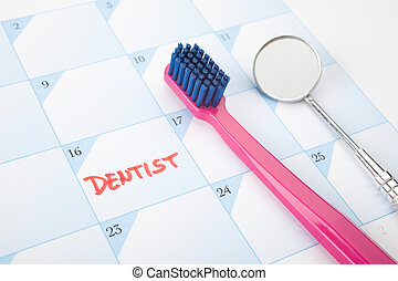 Dentist visit reminder - Dont forget visit a dentist concept...