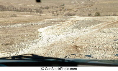 Off-Road Movement - Off Road Driving Through Mountain...