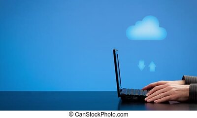 Cloud computing concept - Animated cloud computing concept -...