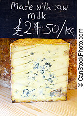Stilton - Traditional stilton blue cheese sold on market
