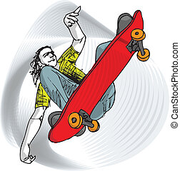 Skater boy illustration