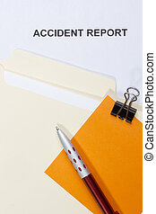Accident Report - Directly above photograph of an accident...