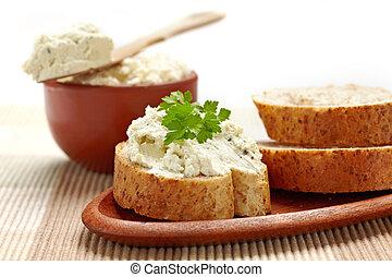 bread, crema, queso